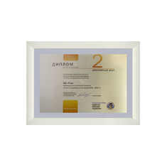 Диплом 2 степени за активное развитие и высокие достижения в 2005-2007 годах