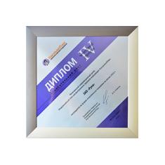 Диплом IV степени за лучшие относительные показатели по итогам 2012 года