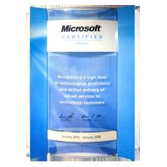 Диплом Microsoft за высокий уровень технологического мастерства и предоставление качественного сервиса