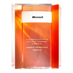 Сертификат Microsoft, подтверждающий соответствие стандартам обеспечения сетевых решений